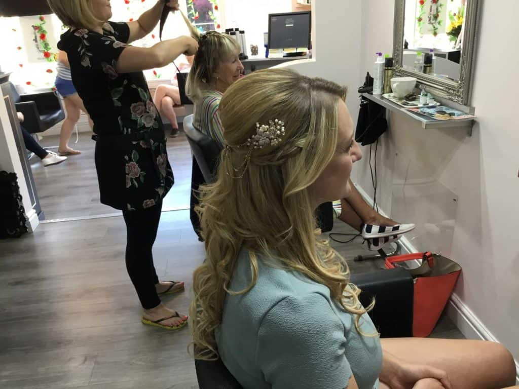 BRIDAL HAIR AT NEW CHEVEUX DEAL KENT CT14